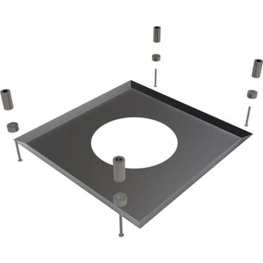 Black TWPro Black Fire-Stop Cover Plate 150mm